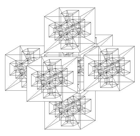 Figure E: A 3D Depiction of a Partiki Grid Known as a Hypercross